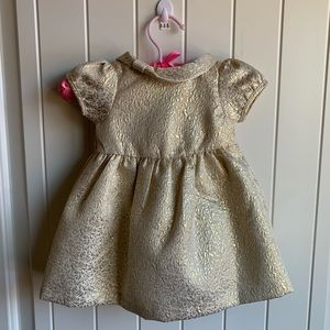 Gymboree Baby forma gold dress